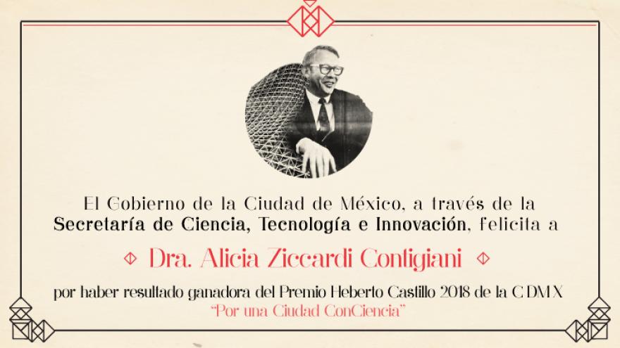 Designan ganadora del Premio Heberto Castillo 2018.